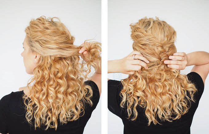 Easy pony for curly hair