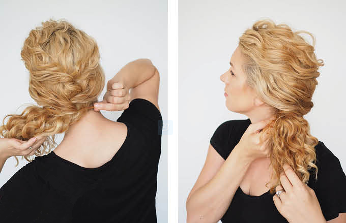 ponytail for curly hair_
