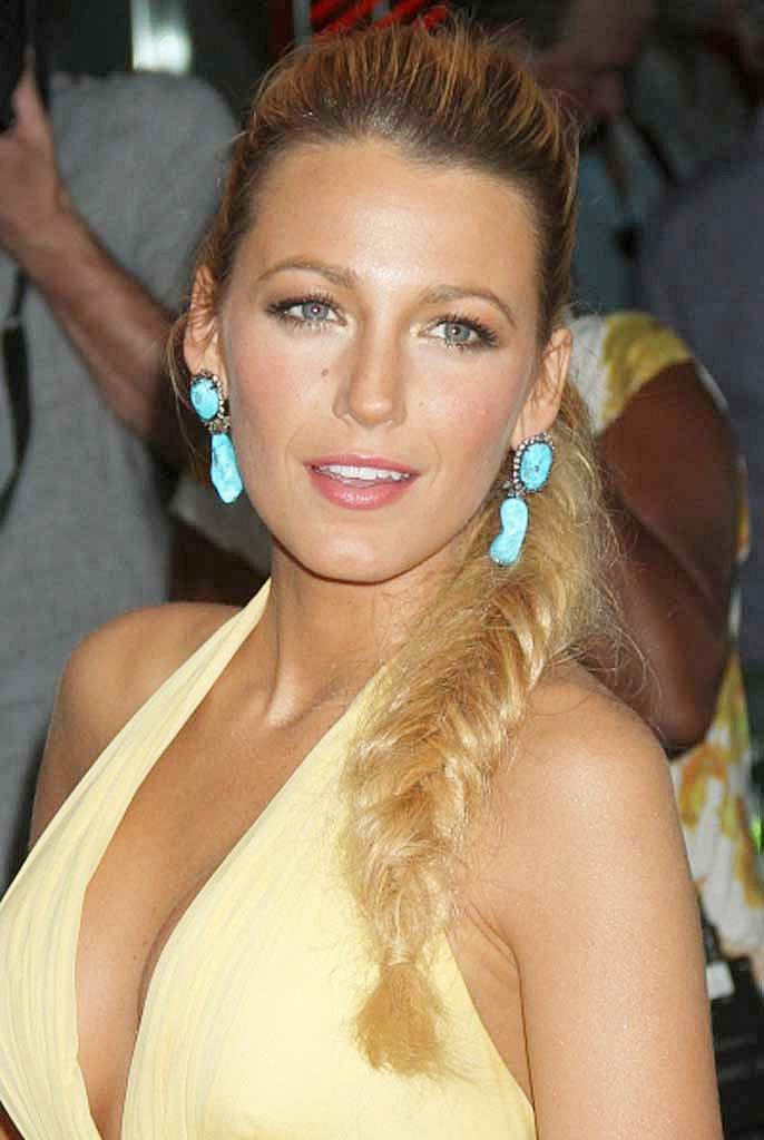 Blake-Lively-Hairstyle-High-Ponytail-Fishtail-Braid