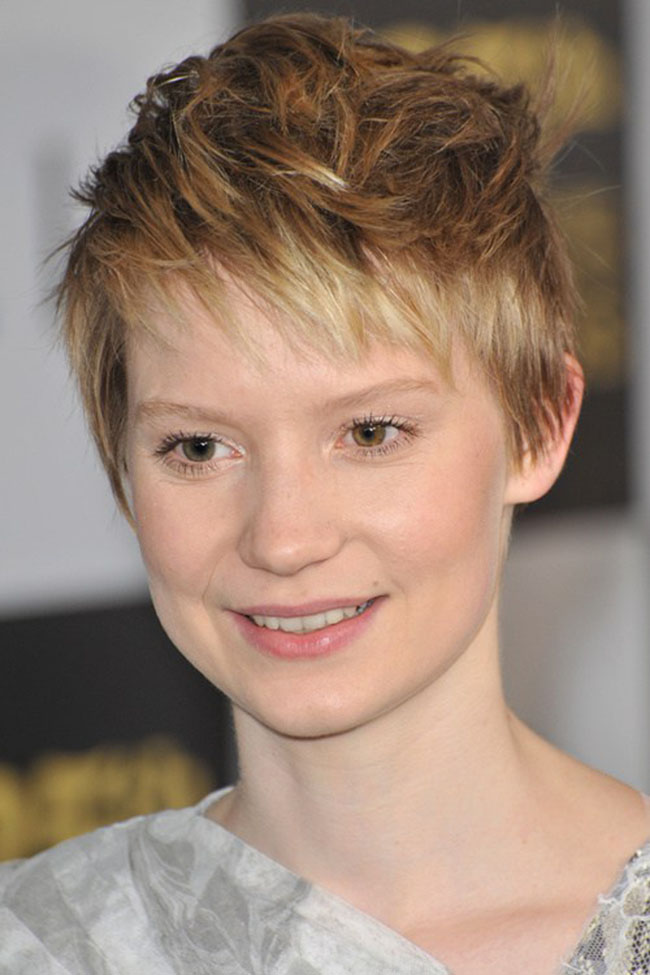 Short Hair with Pixie Bangs